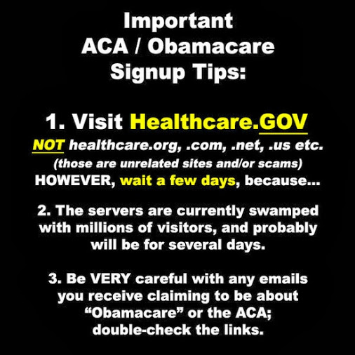 WARNING!!!!! WARNING !!!OBAMACARE SIGNUP WARNING